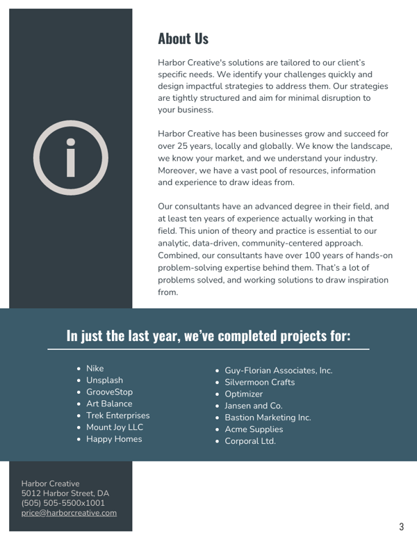Gray Business Consulting Proposal Template About Us_Venngage