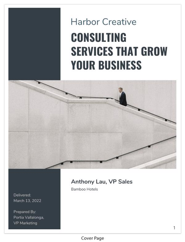 Gray Business Consulting Proposal Template Cover Page_Venngage