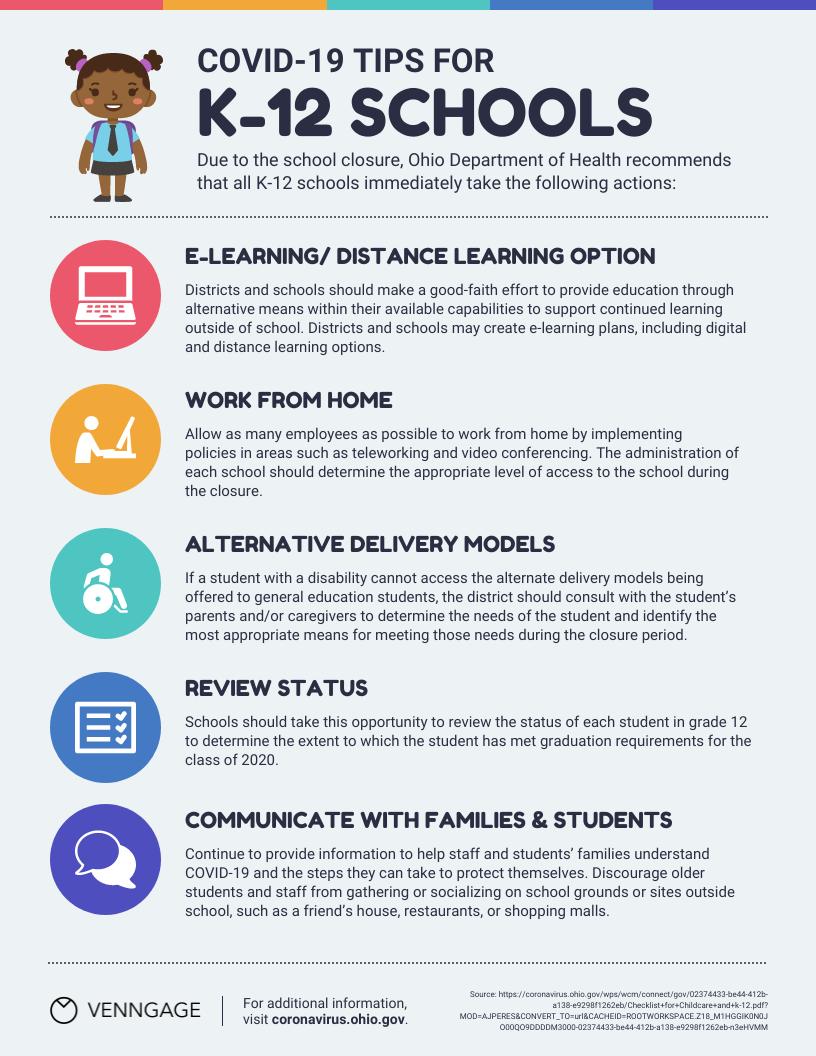 K-12 Schools Tips List Infographic