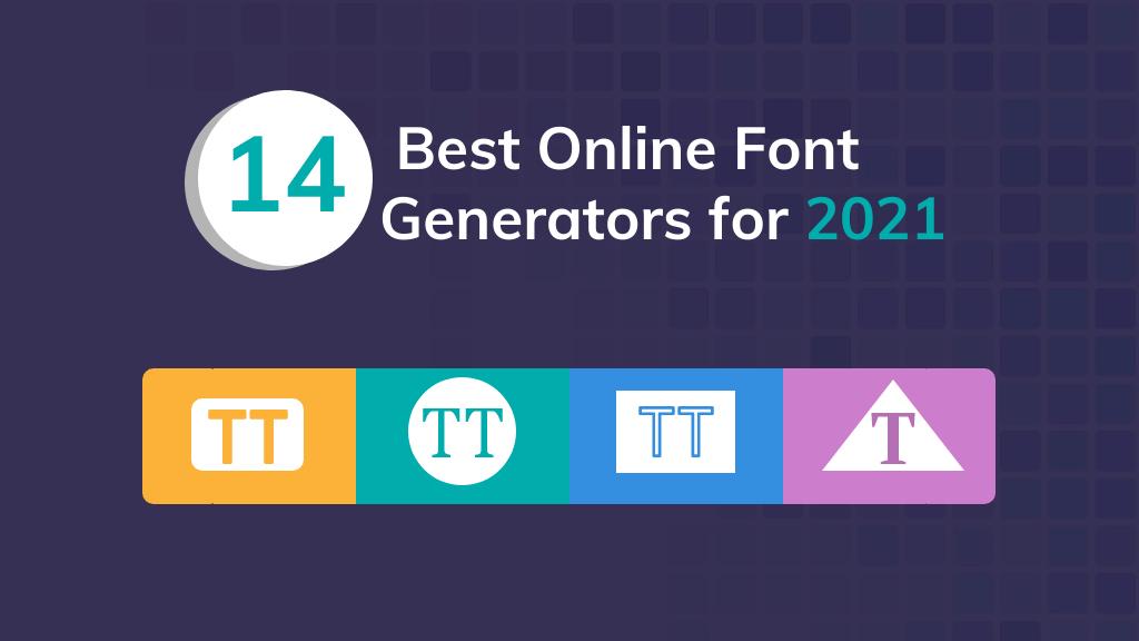 online font generator banner