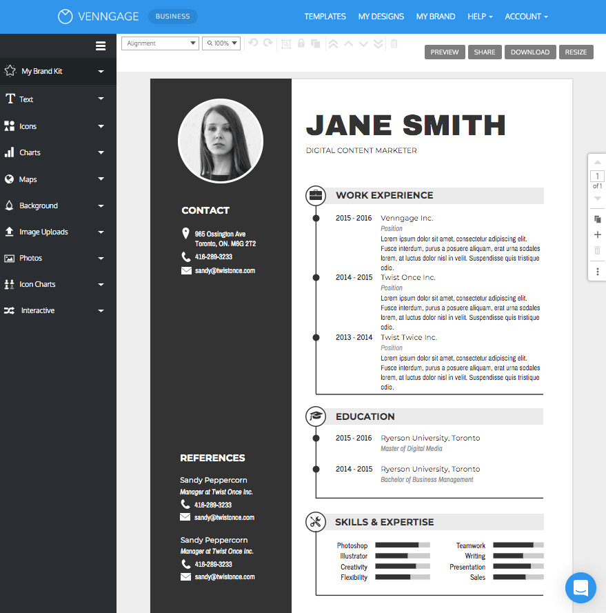 resume builders for free