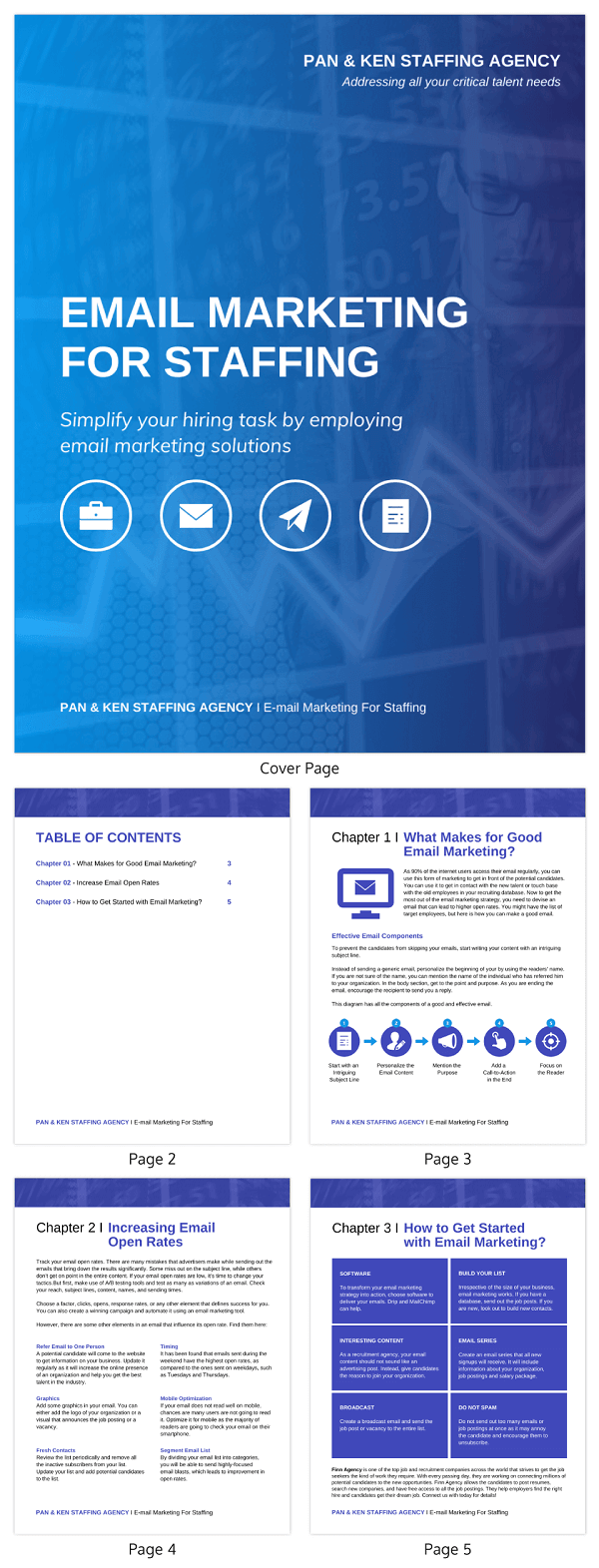 Blue Email Marketing White Paper Template