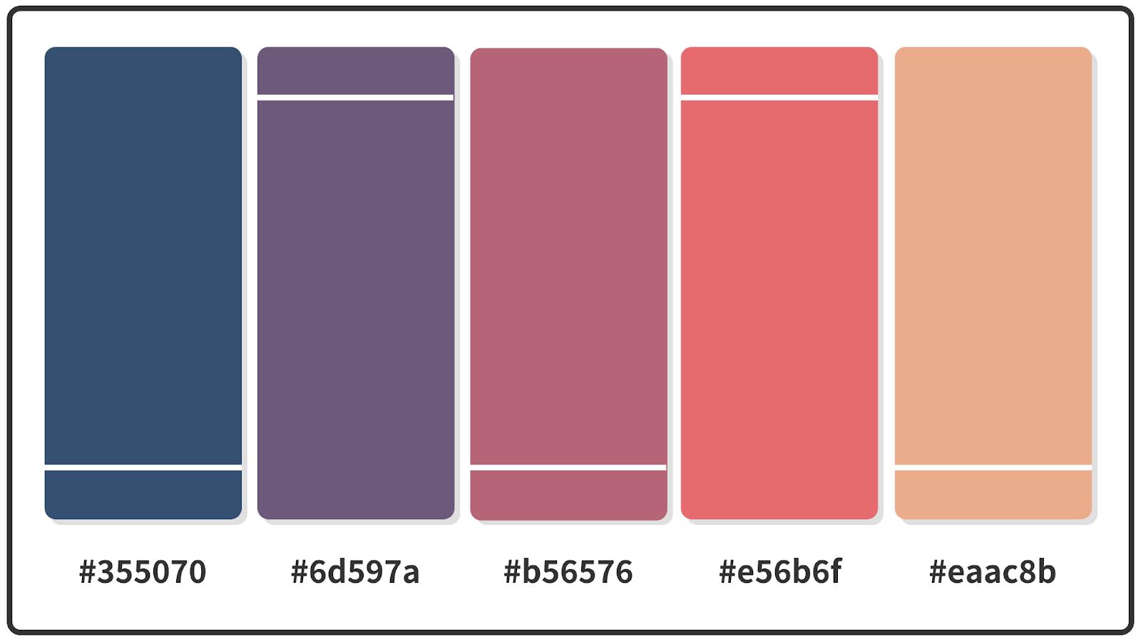 Candy Pink + Rose Desert + Y in Mn Blue Color Palette