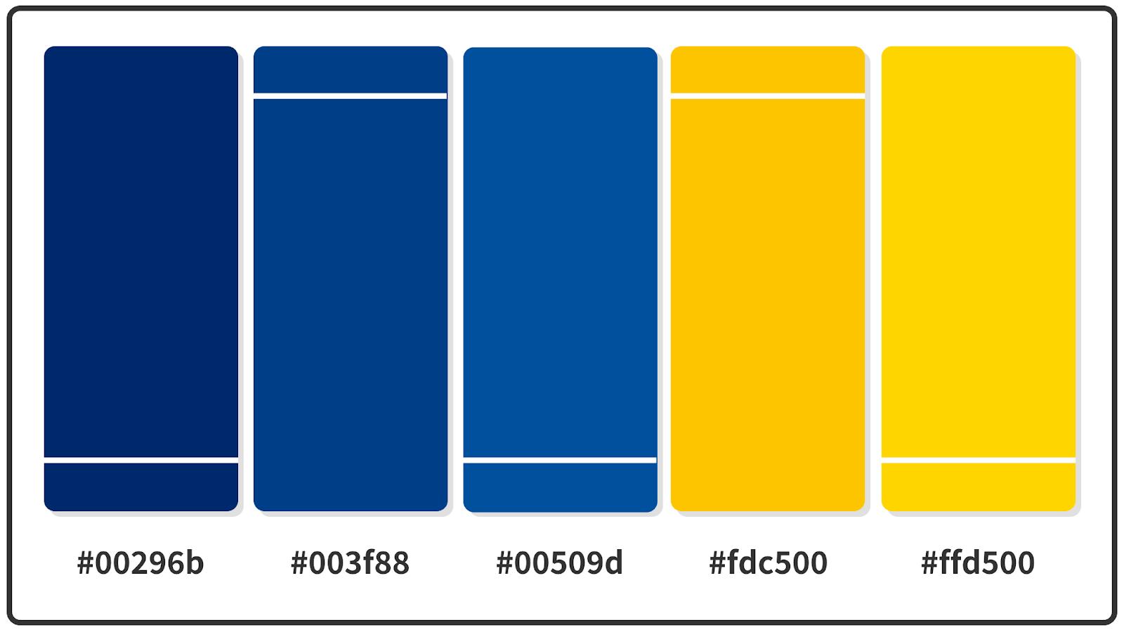 Cyber Yellow + Royal Dark Blue Color Palette