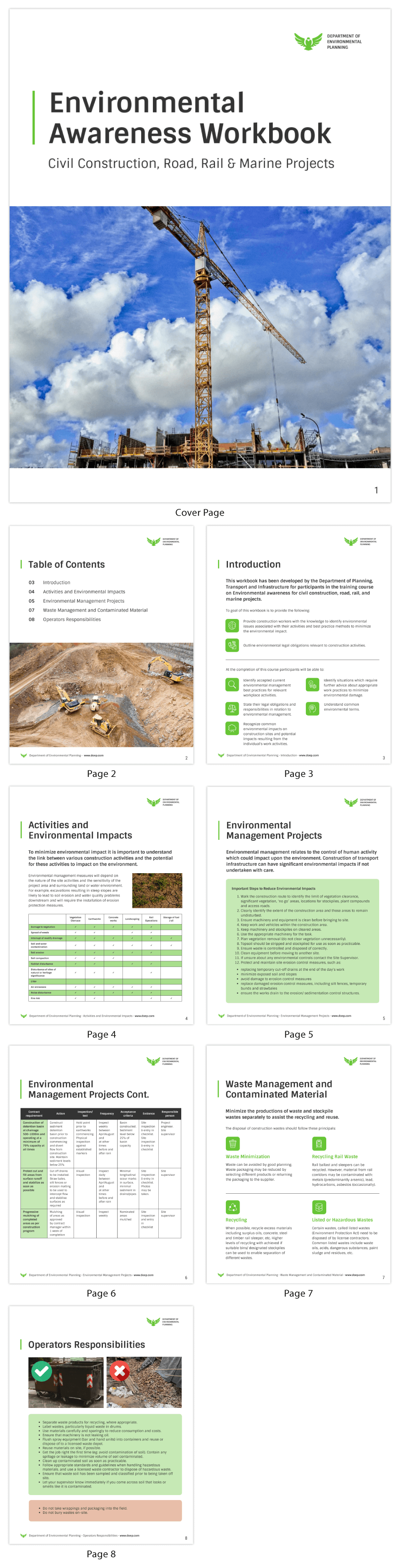 Environmental Awareness Workbook Course White Paper Template