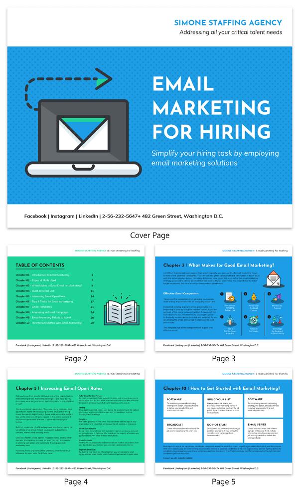 Icon Email Marketing White Paper Template