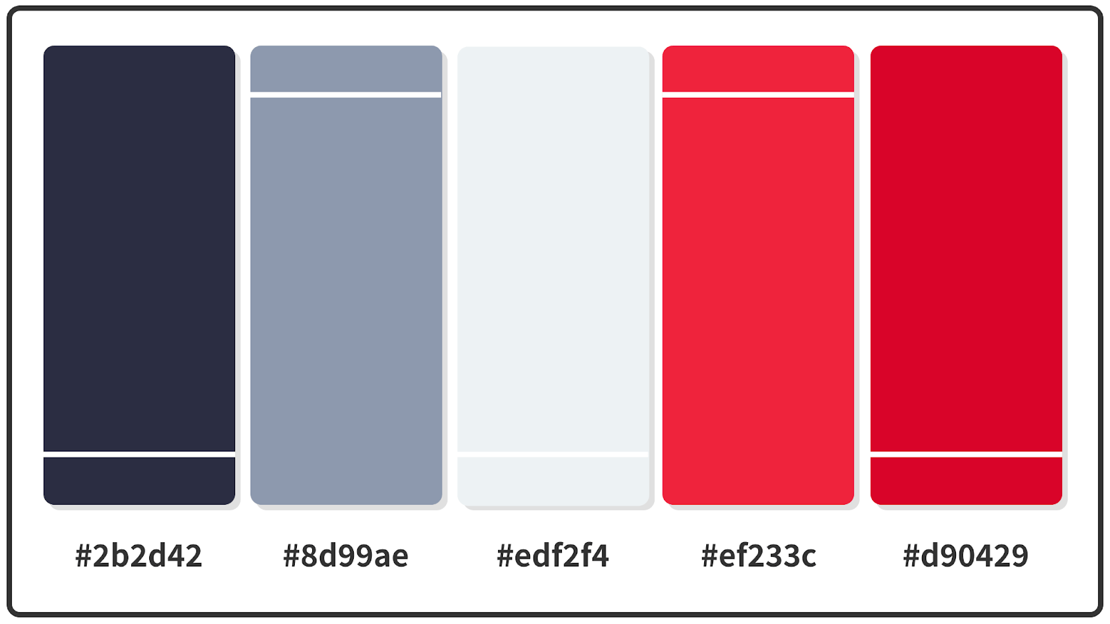 Imperial Red + Space Cadet Blue Color Palette 1