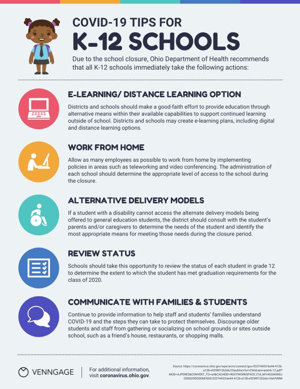 K-12 Schools Tips List Infographic Template