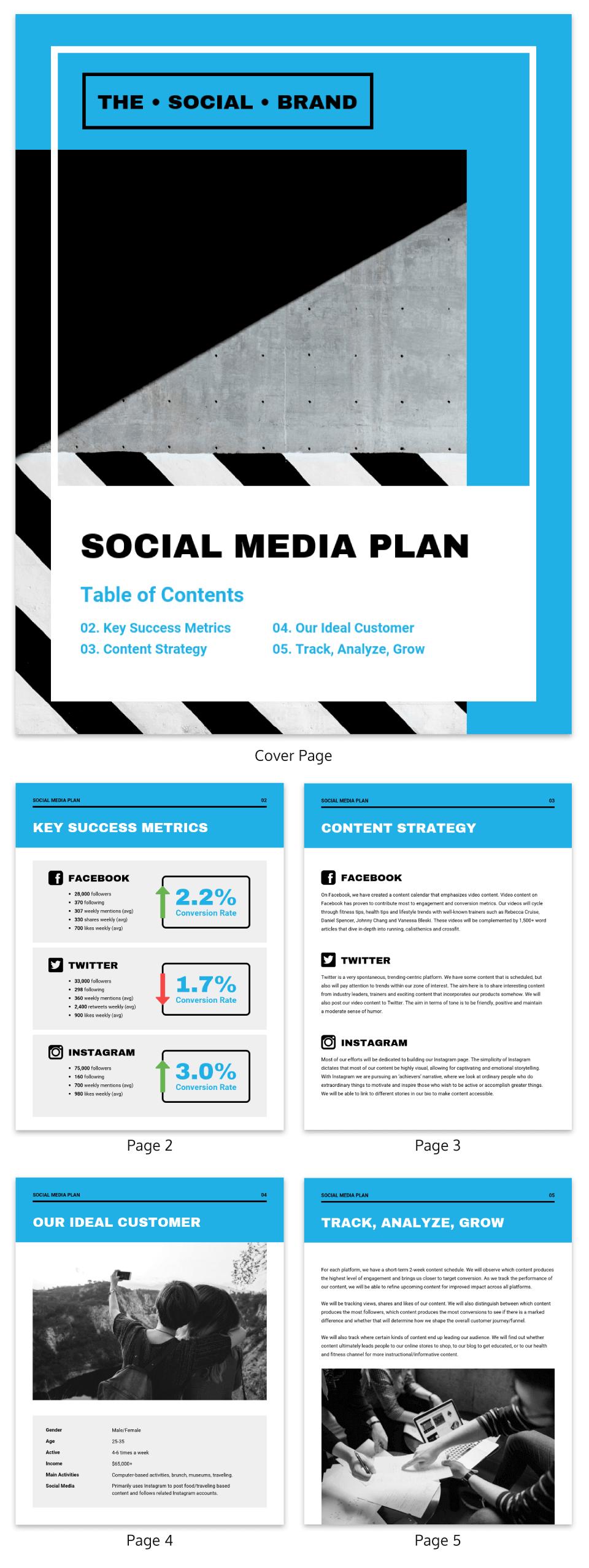 Marketing Plan Template Social Media Proposal
