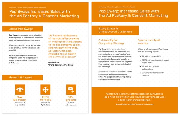 Orange Content Marketing Case Study Template