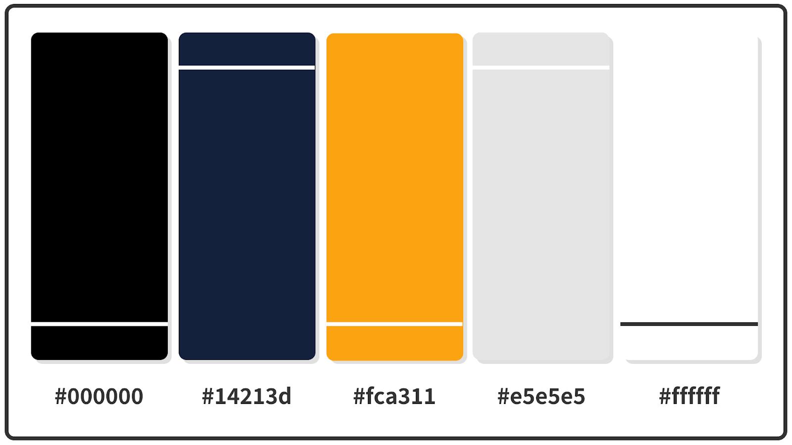 Orange Web + Oxford Blue Color Palette