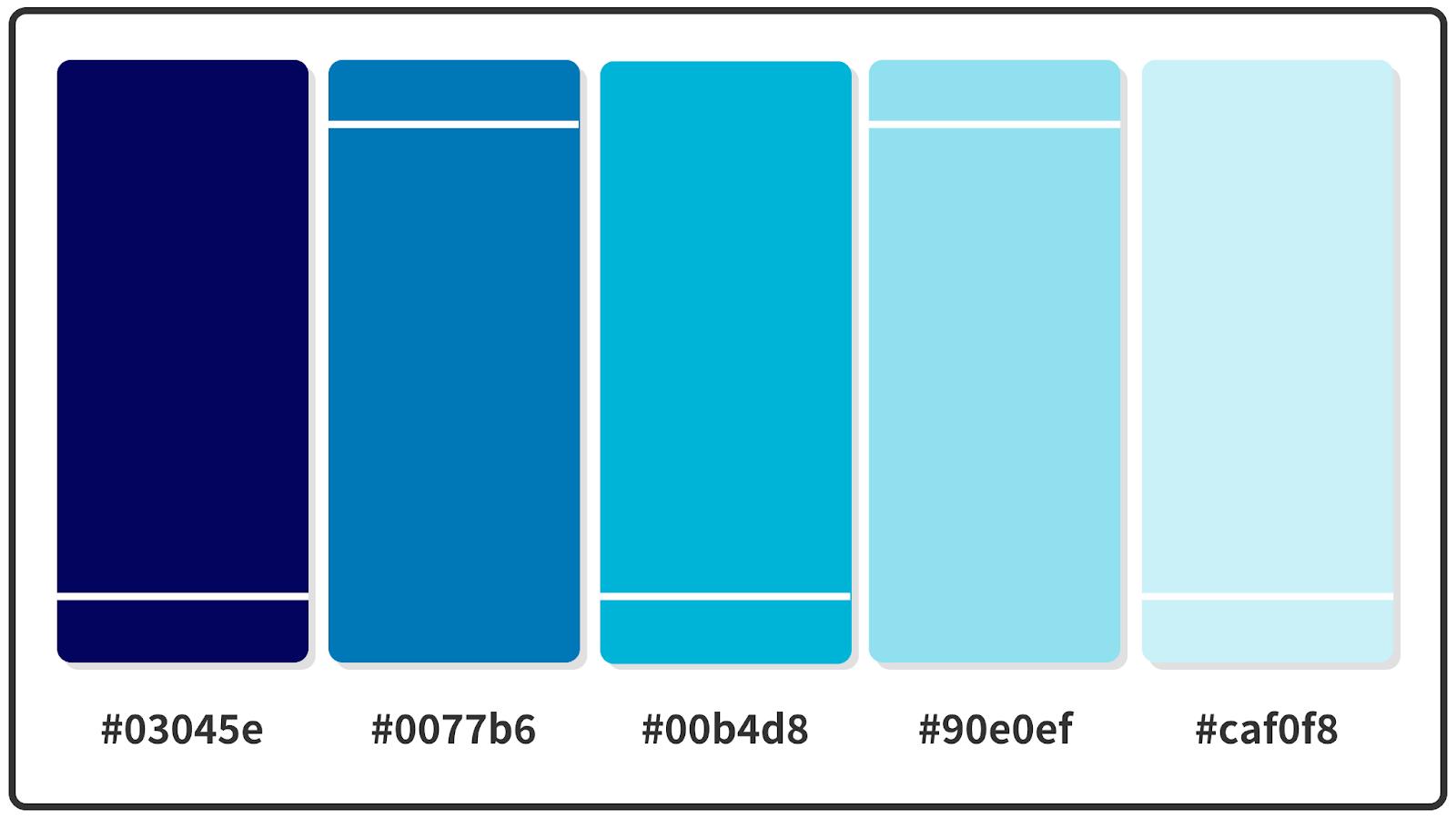 Shades of Blue Color Palette