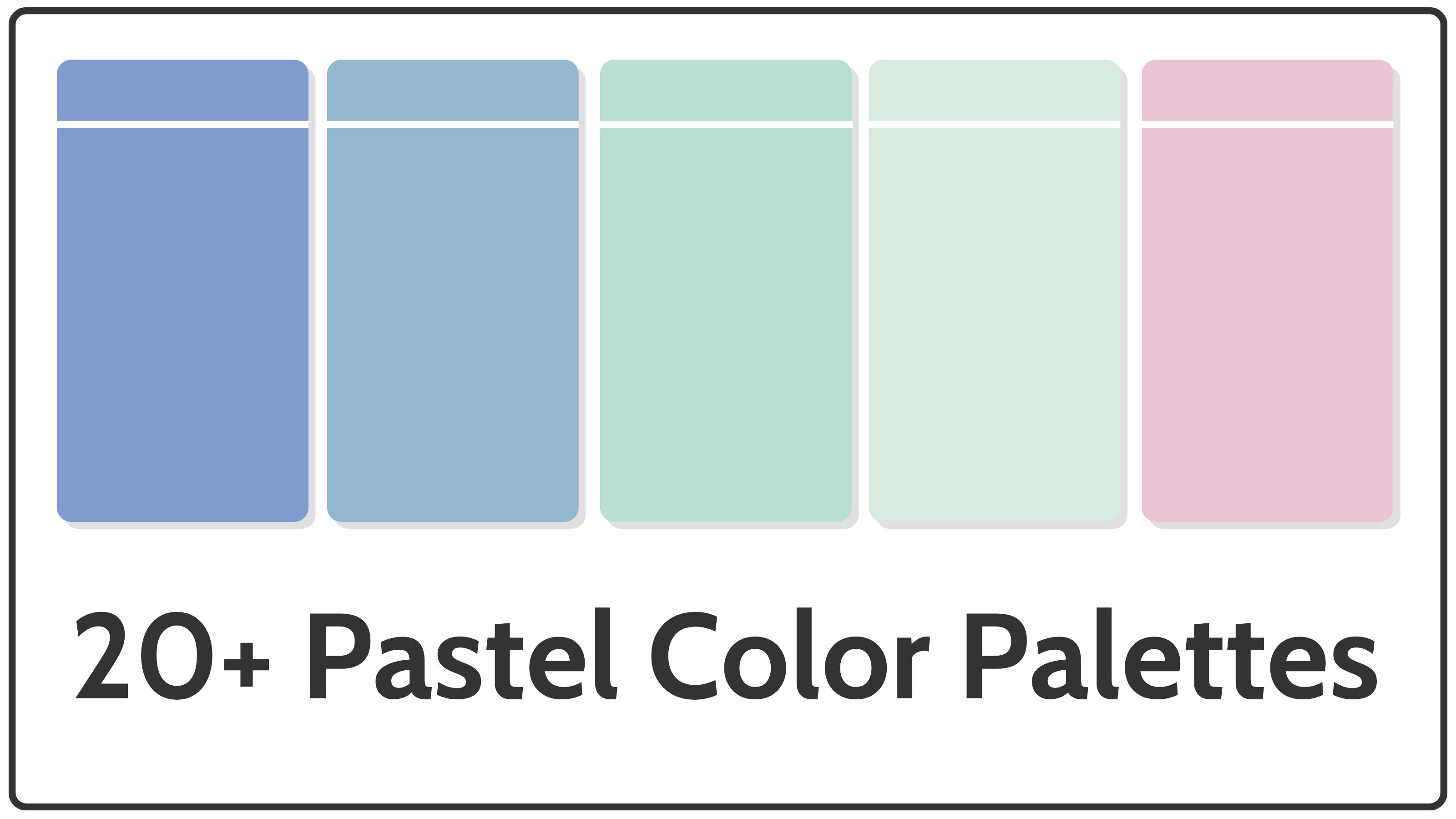 pastel color palettes