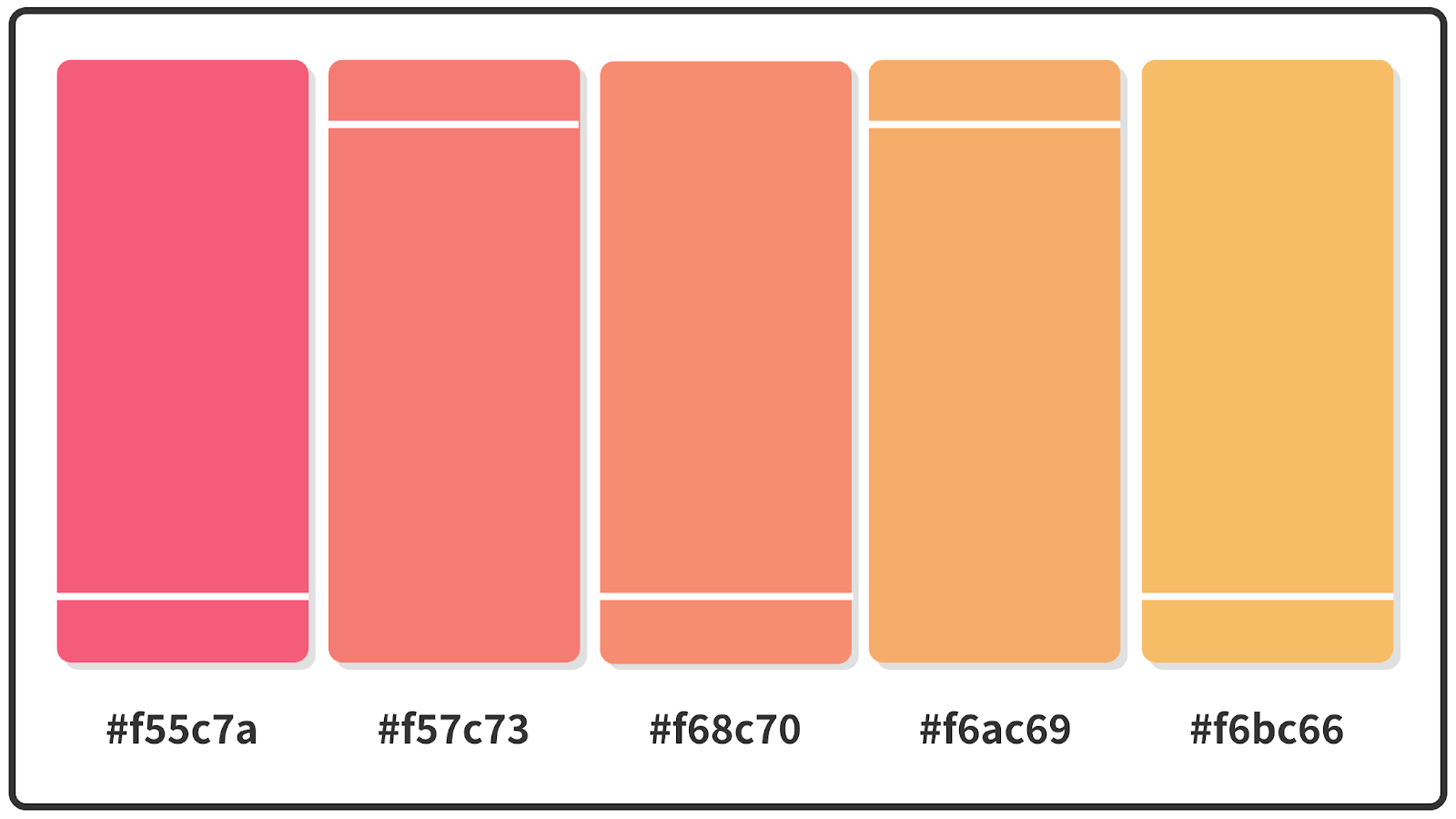 Bright Pink + Rajah + Sunray Pastel Color Palette