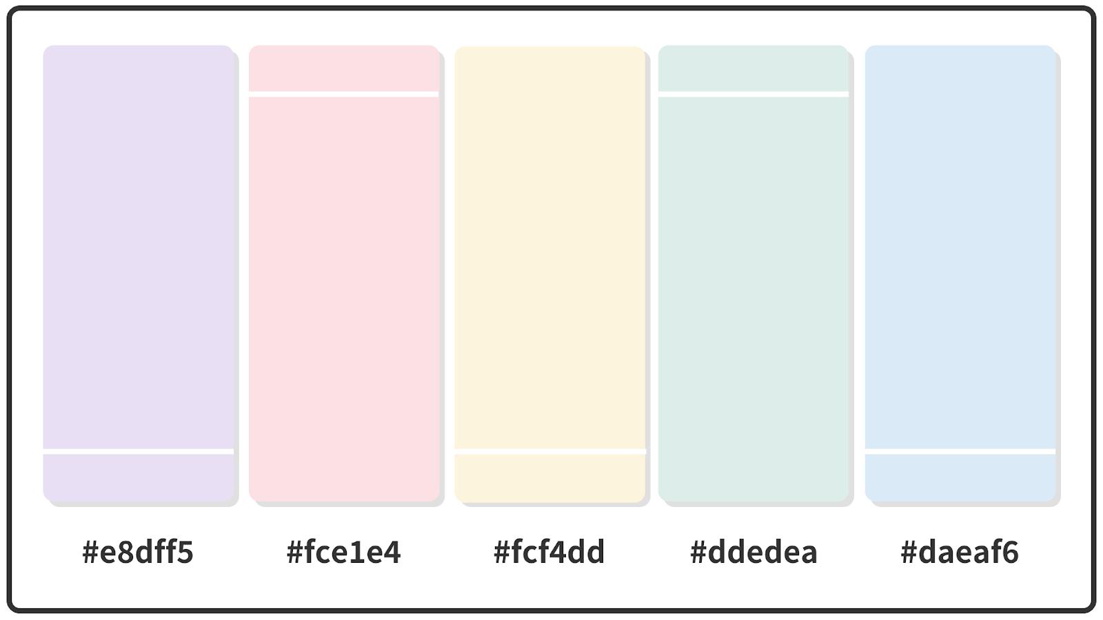 Cornsilk + Pale Pink + Alice Blue Paste Color Palette