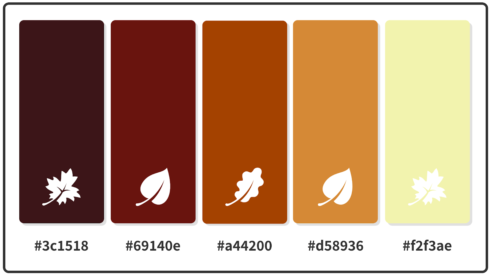 Dark Sienna + Rust + Blood Red Fall Color Palette