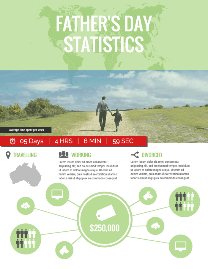 Father's Day Statistics Infographic Template