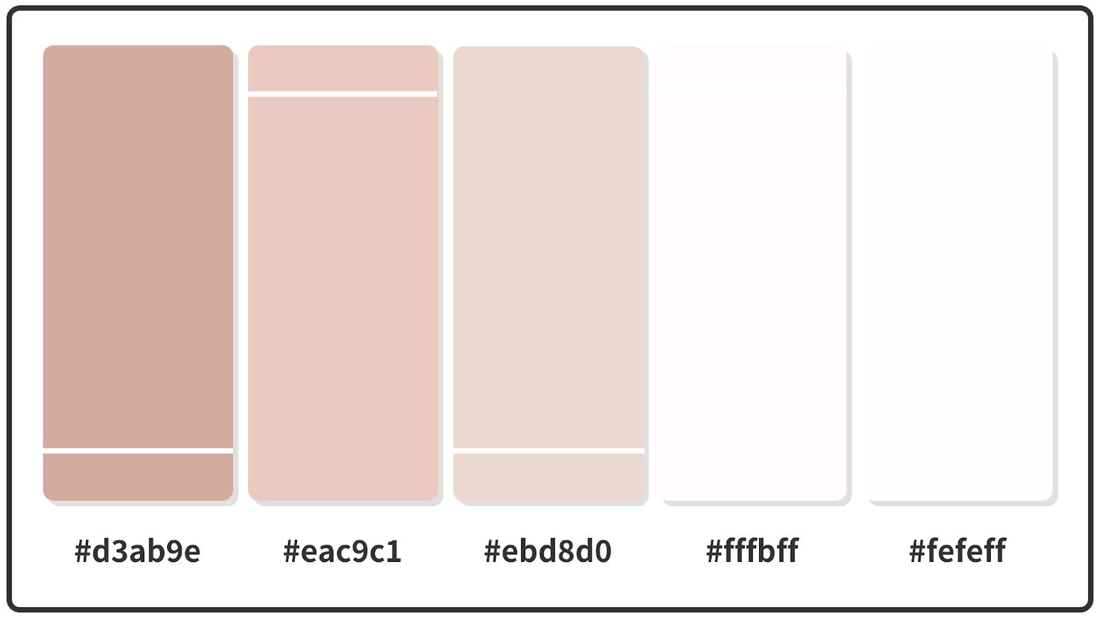 Pastel Pink + Pale Pink + Snow White Pastel Color Palette