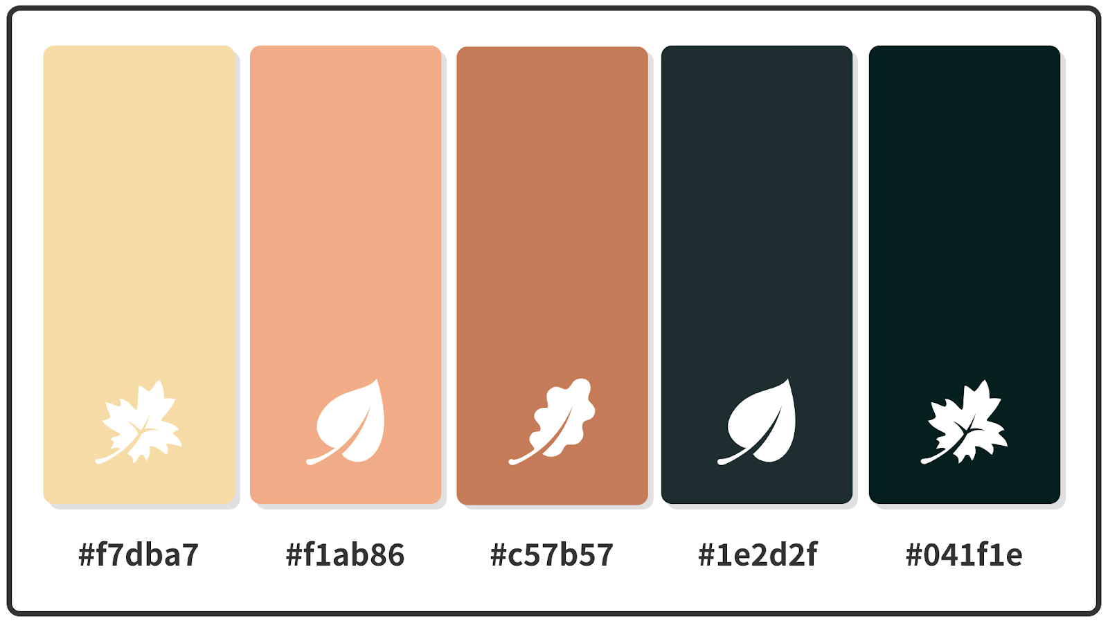Peach + Tumbleweed + Charleston Green Fall Color Palette