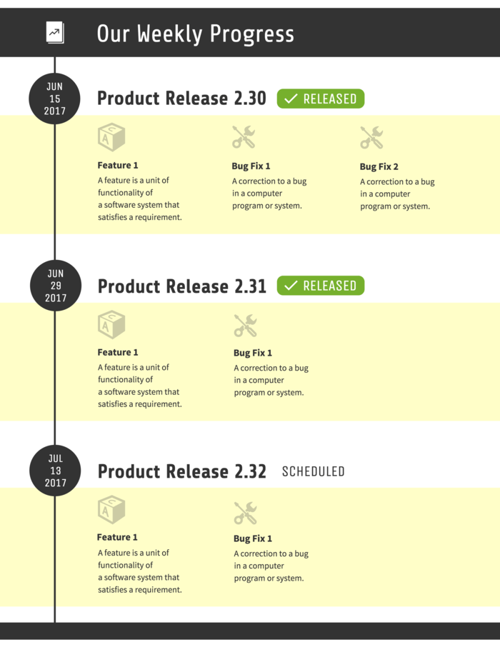 Product Development Timeline Infographic