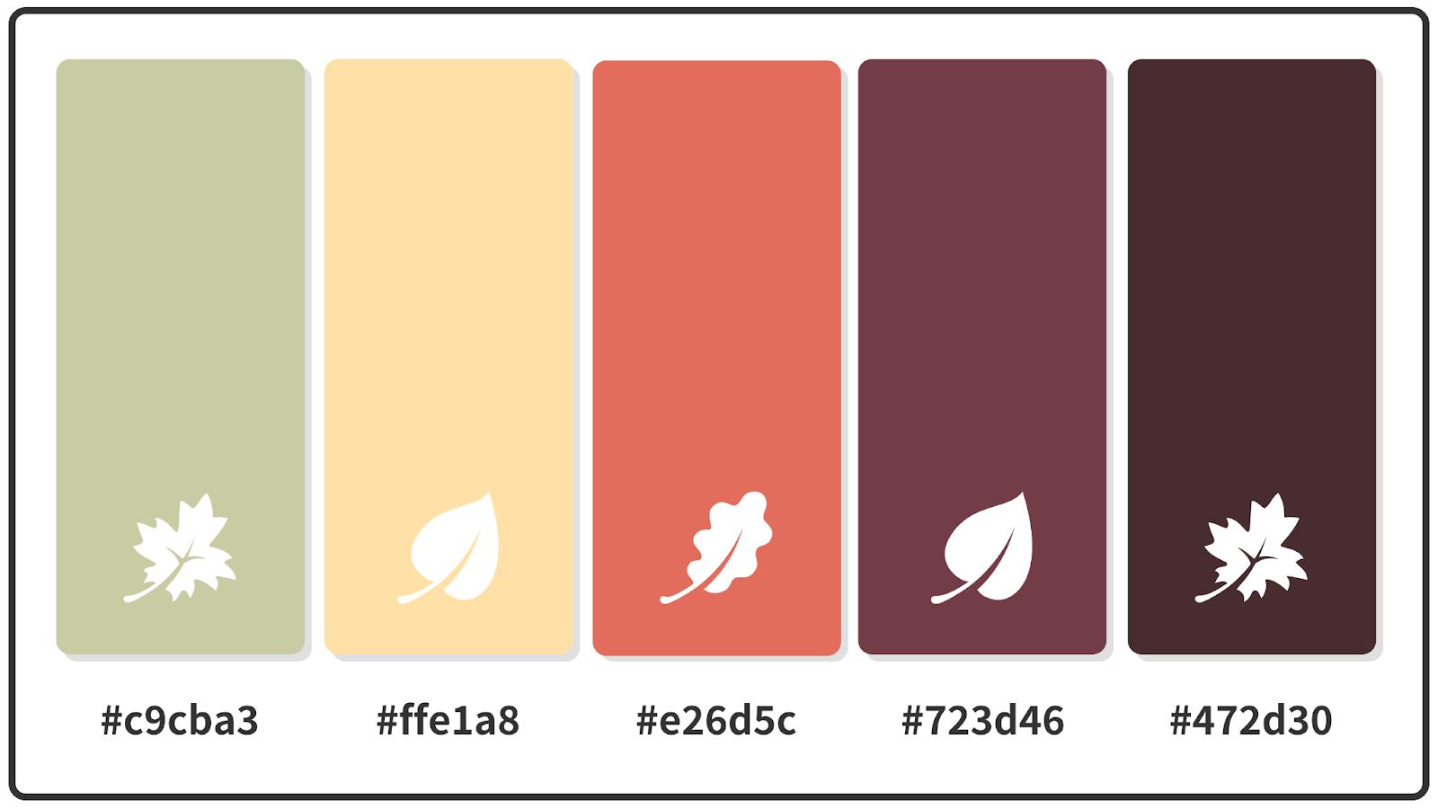 Sage + Catawba + Peach Fall Color Palette