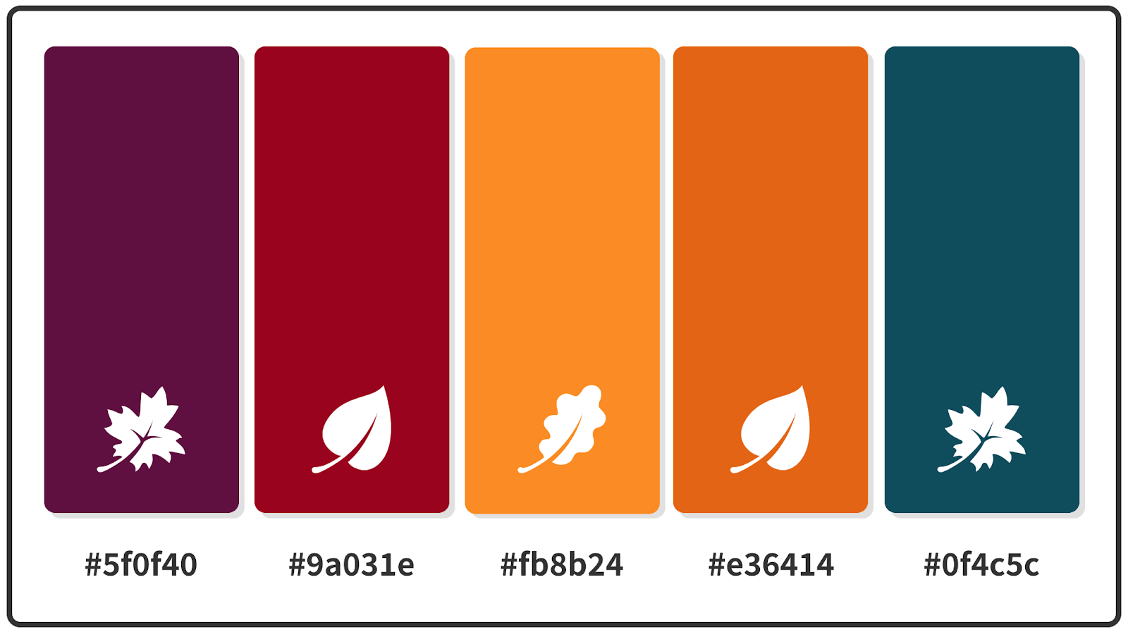 Tyrian Purple + Ruby Red + Spanish Orange Fall Color Palette