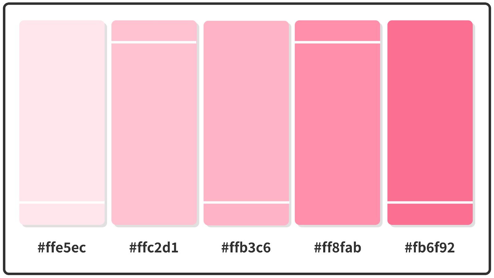 Ultra Red + Cherry Blossom + Piggy Pink Pastel Color Palette