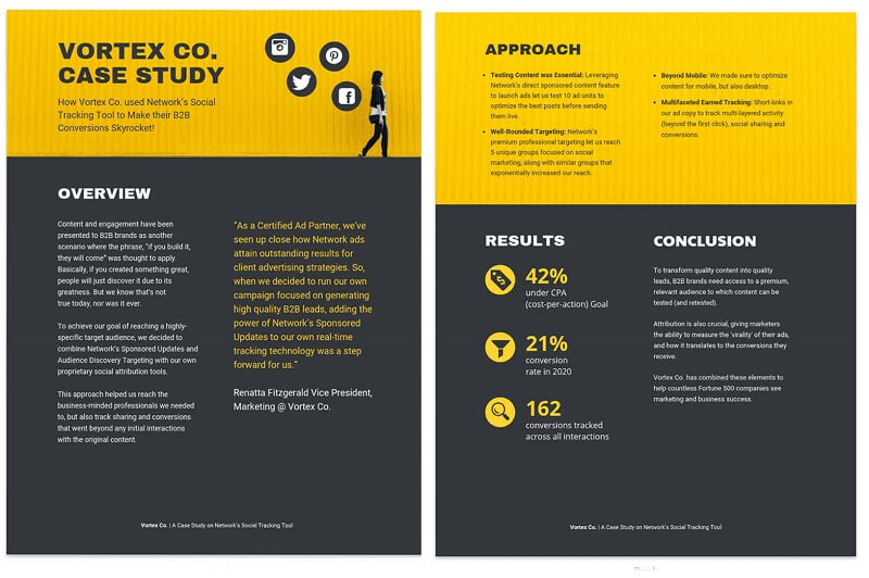 Bold Social Media Business Case Study Template