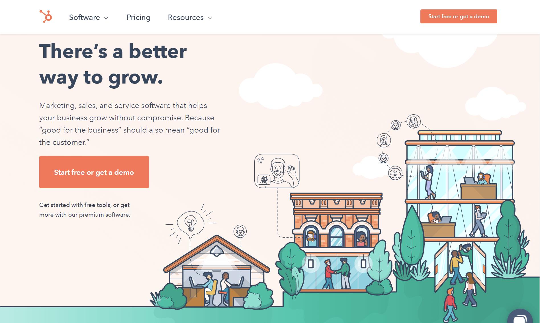 Hubspot homepage Graphic Design Trends 2022 inclusive visuals
