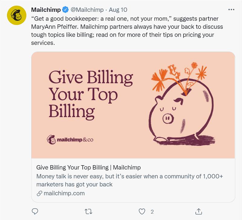 Mailchimp Twitter 1