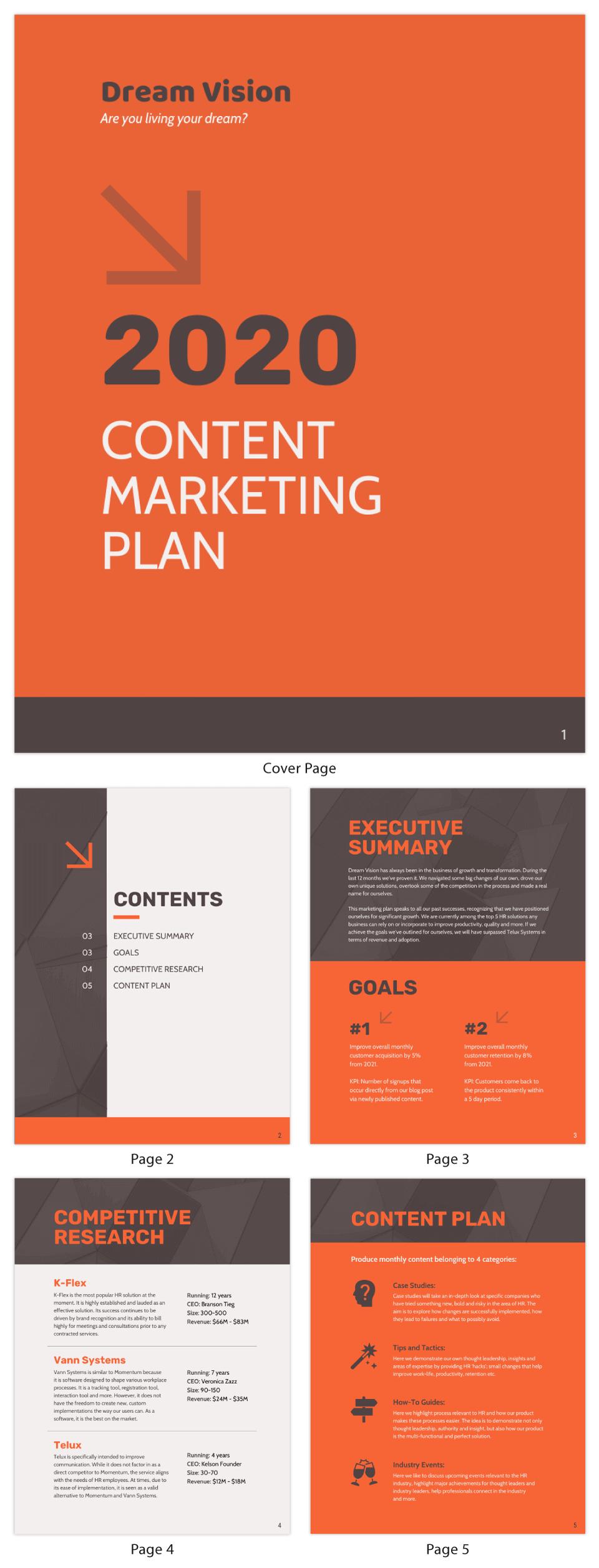 Orange-Content-Marketing-Plan-Template