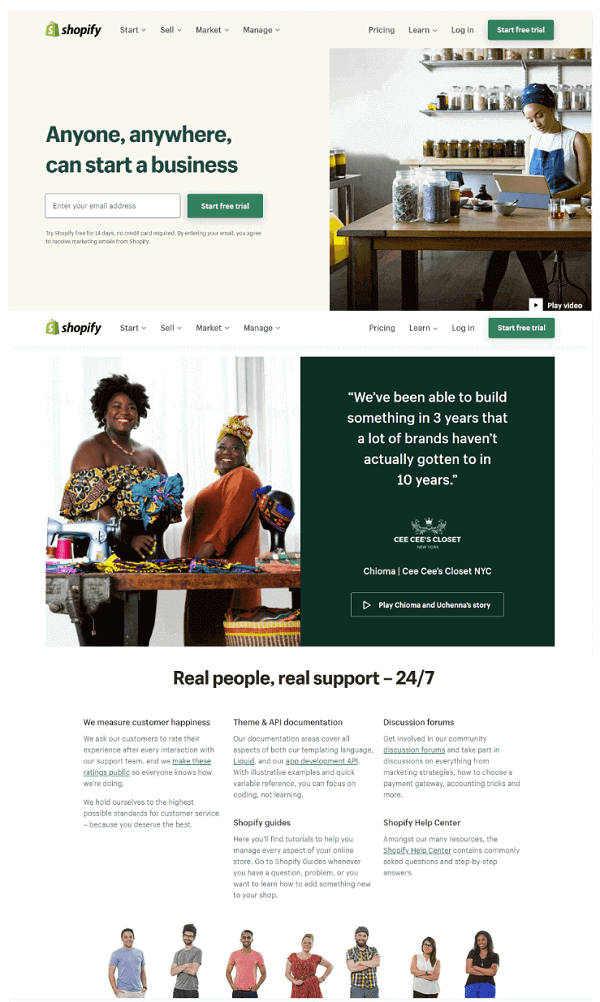 Shopify Graphic Design Trends 2022 inclusive website