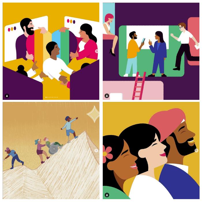 Slack inclusive visuals Graphic Design Trends 2022