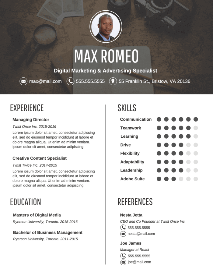 template-resume-4