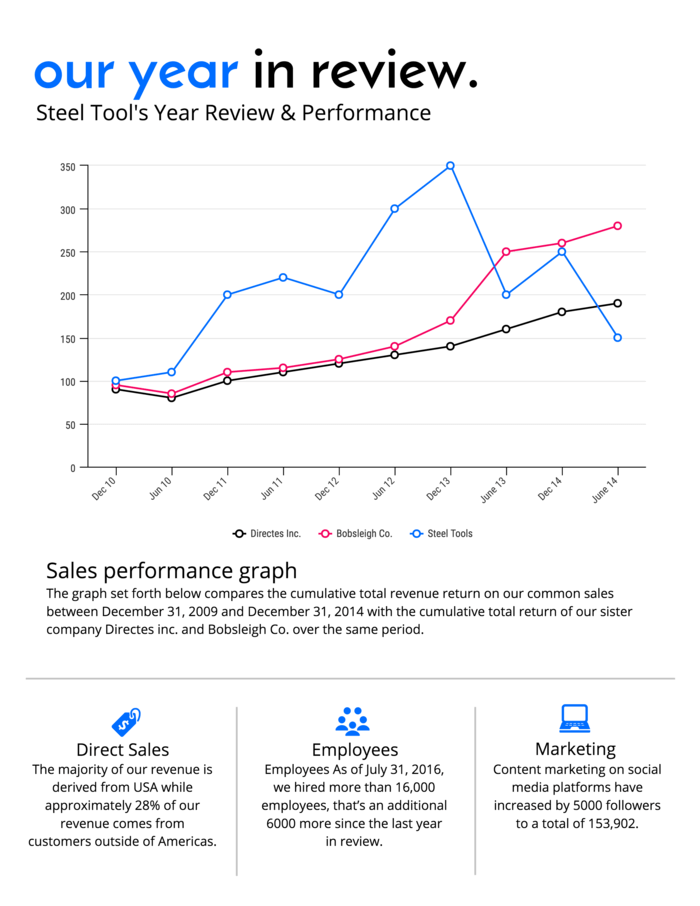 Our Year in Review Annual Report Template