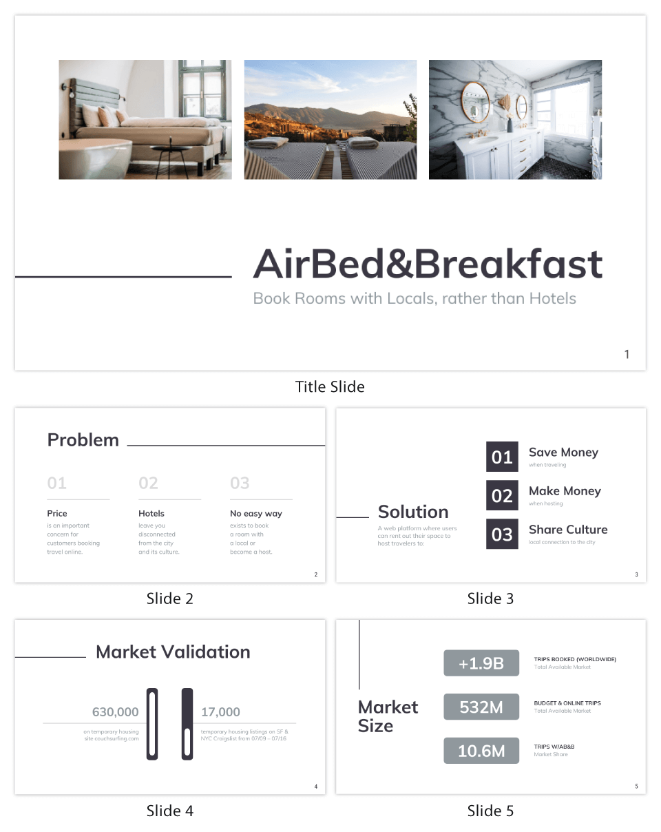 Minimalist Airbnb Pitch Deck Template