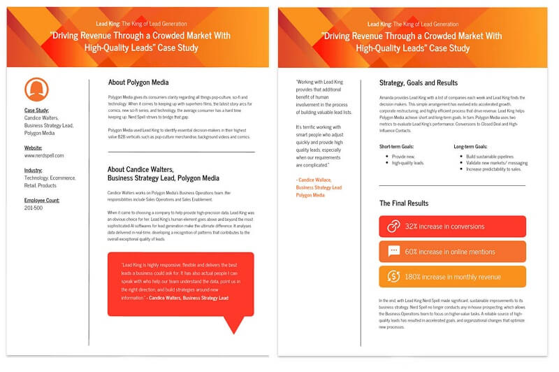 Modern lead Generation Business Case Study Template
