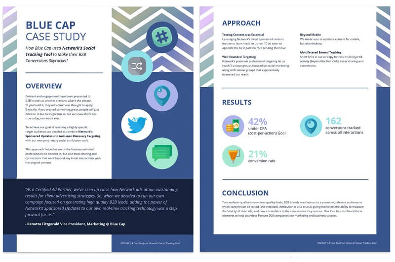 Social Media Business Case Study template