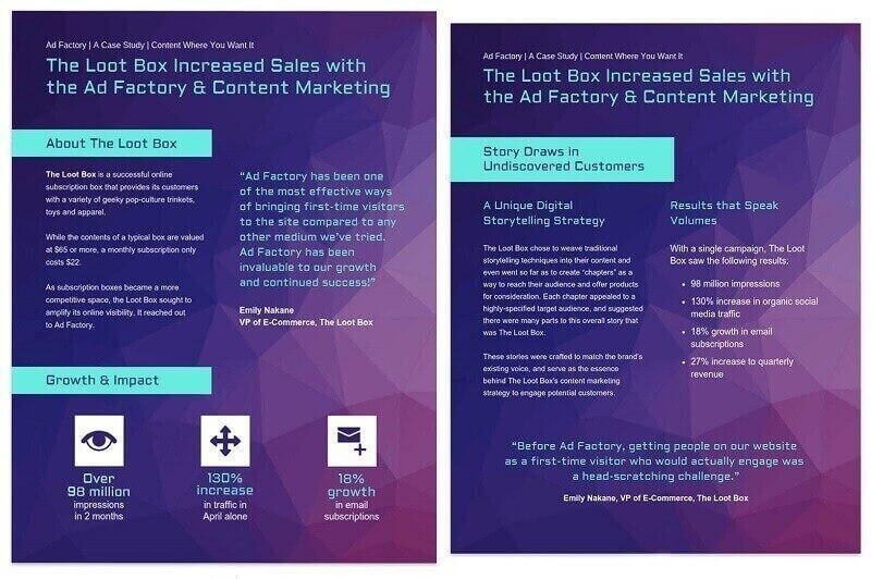 Vibrant Content Marketing Case Study Template