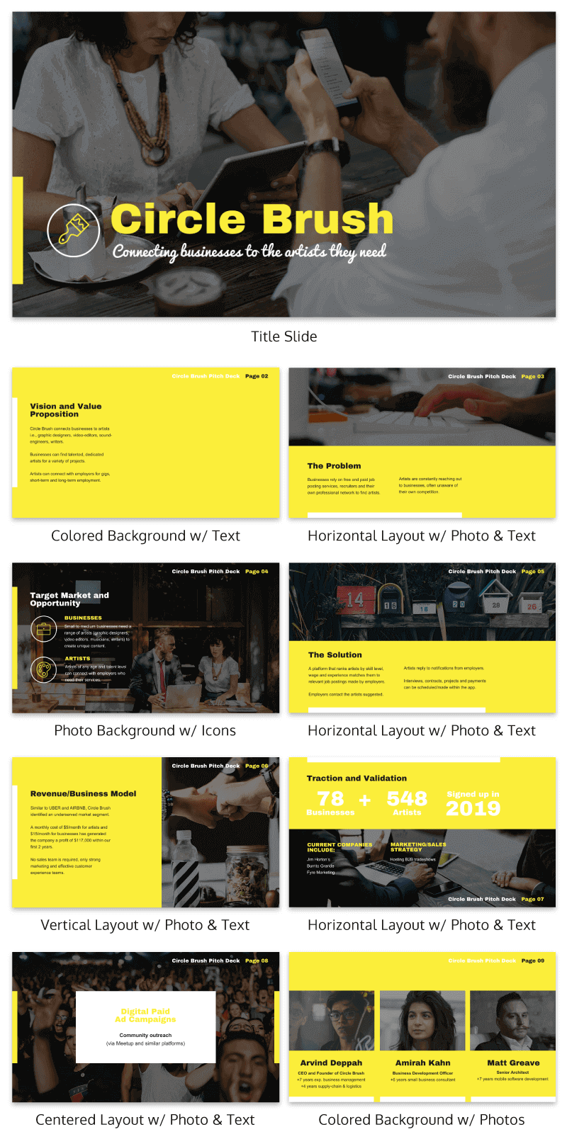 Yellow Startup Pitch Deck