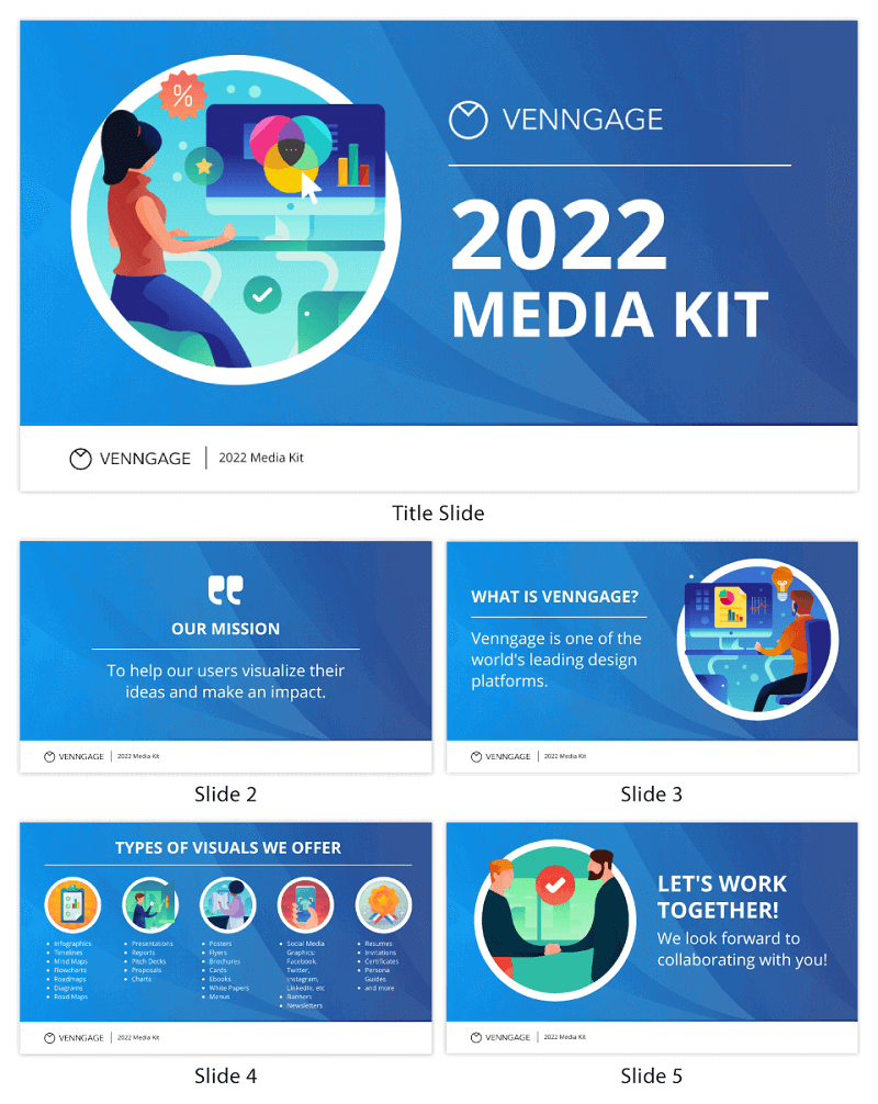 Company Media Kit Partnership Pitch Deck Template