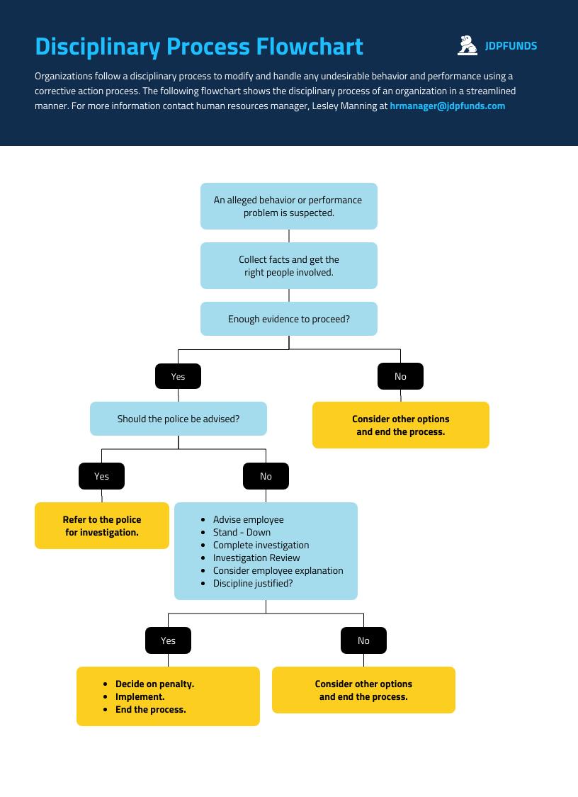 Financial Disciplinary Process Flowchart Template
