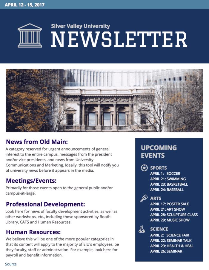 University Newsletter